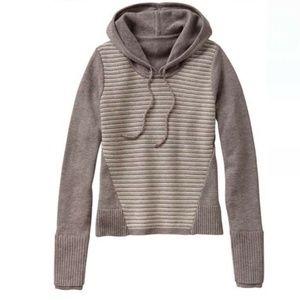 [Athleta] Merino Wool Striped Hoodie Sweatshirt